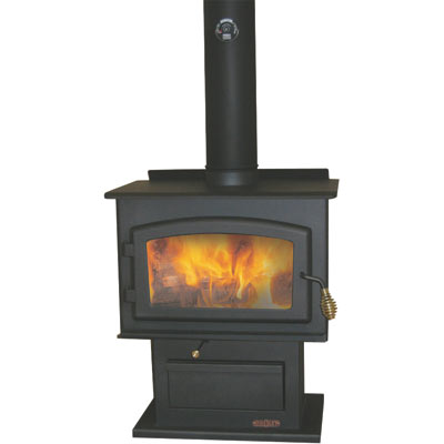 Efficient mobile home wood stove