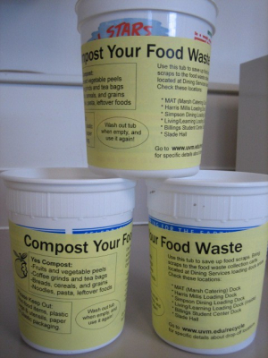 Bins to collect food waste