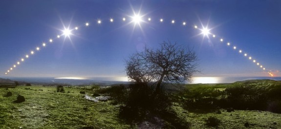full day exposure of Winter Solstice