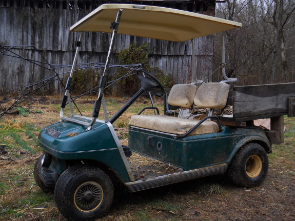 comparing a golf cart to an all terrain vehicle (ATV)