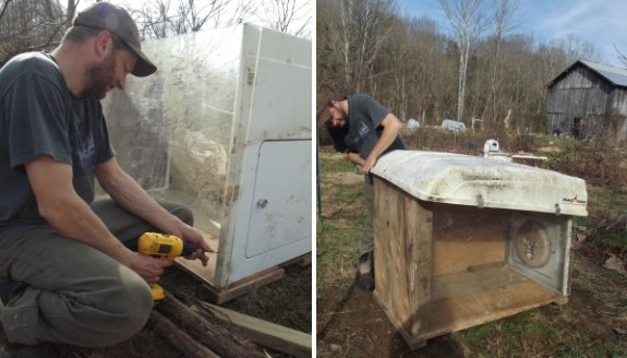 upgrading the brood coop to a more heavy duty version with a plexiglass wall