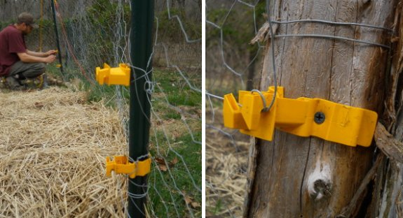 adapting electric fence plastic holders