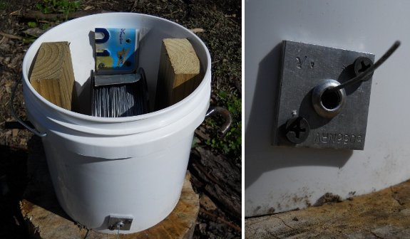 2 gallon bucket electric fence wire holder improvements
