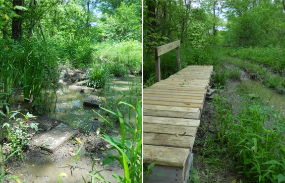 building bridges in a swamp with decking boards 2012