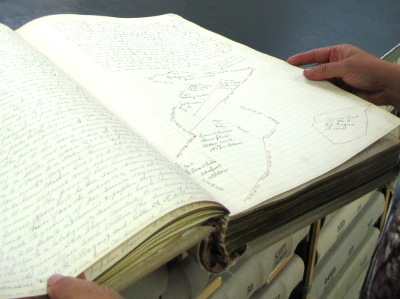 Old deed book