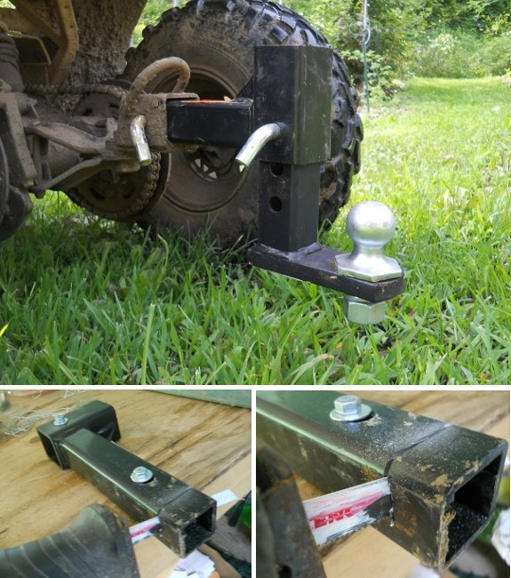ATV hitch height adjuster