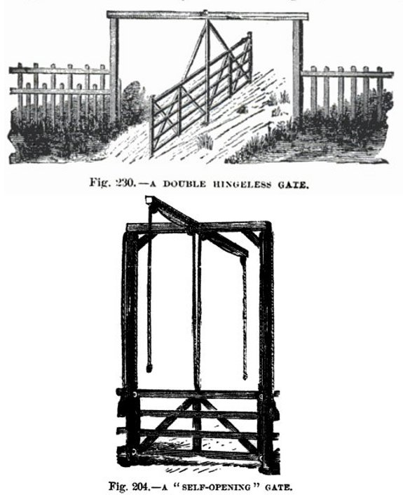 how to make an unpowered gate?