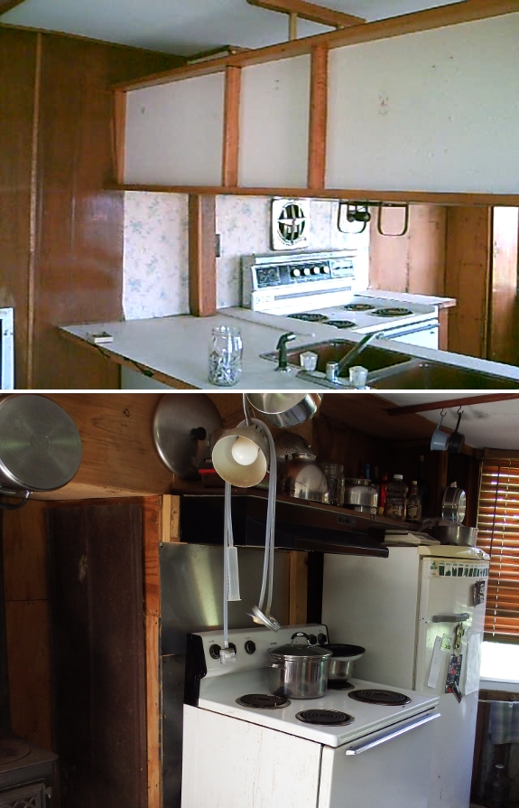Kitchen then and now