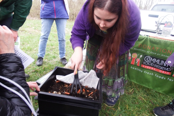 Worm bin workshop