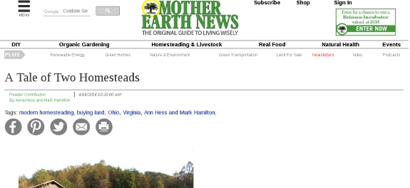 Mother Earth News guest post