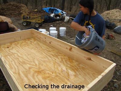 Worm Bin Drainage