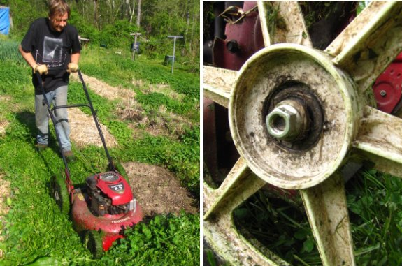 How To Replace A Rear Wheel That Wobbles On Walk Behind Craftsman Mower